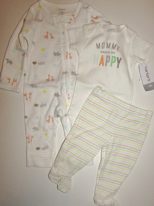 Carters 3 pc set animals size N