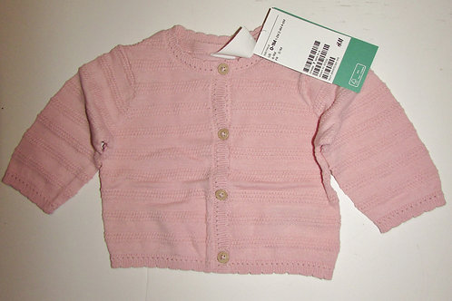 H & M cardigan rose size N
