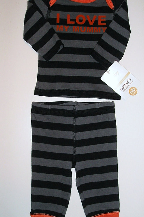 Carters black/gray size N