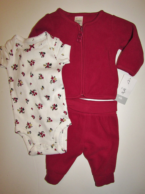Carters  red/white/floral size N