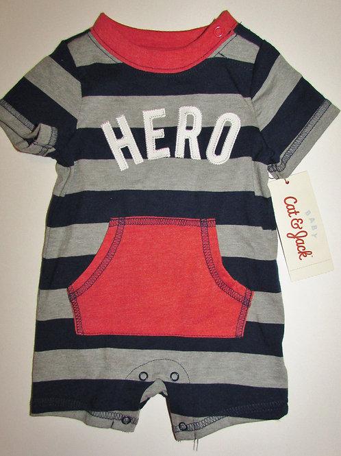 Cat and Jack creeper gray/black Hero size N