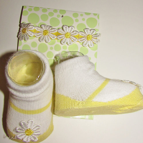 Little me white yellow/daisy size 0-6