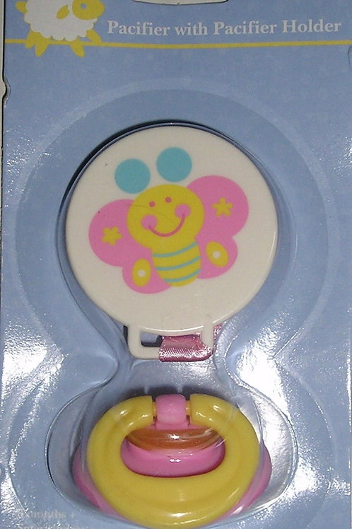 Greenbrier pacifier/clip size 3+ mo