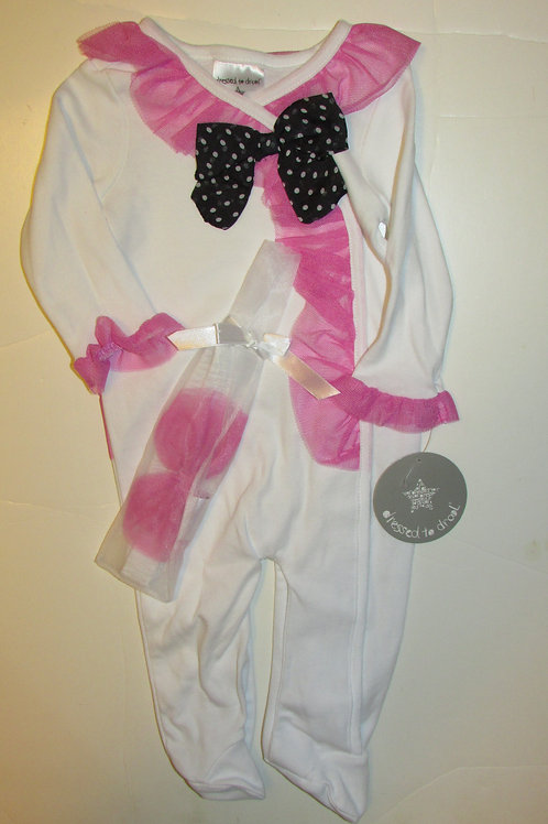 Dressed/Drool white/pink size 3