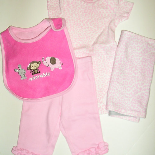 Child of Mine 4 pc pink/print size N