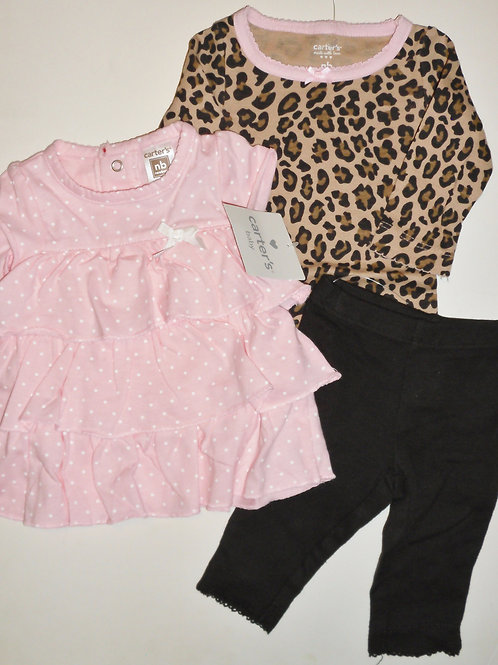 Carters pink/brown size N