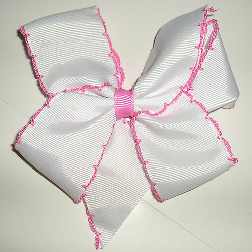 Faded Glory barrette bow white/pink