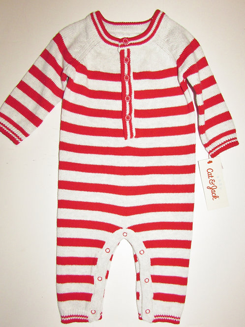 Cat & Jack red/stripes size 0-3 mos