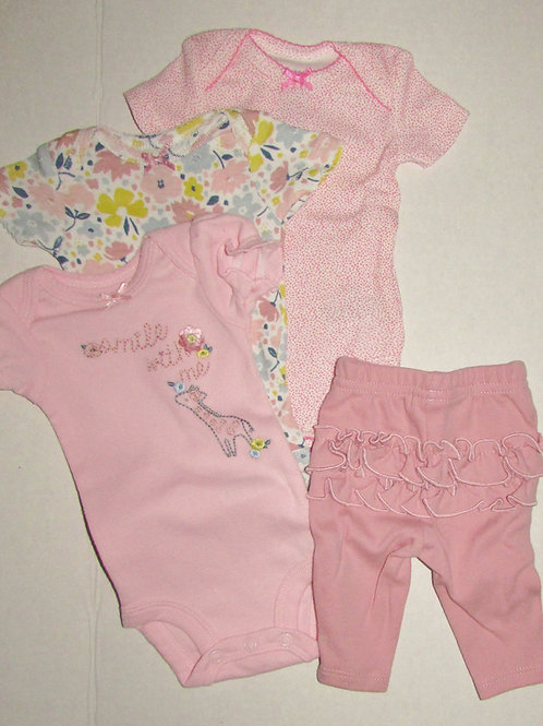 Child of Mine 4 pc set pink/floral size P