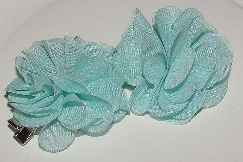 Basics pair of floral barrettes choose color