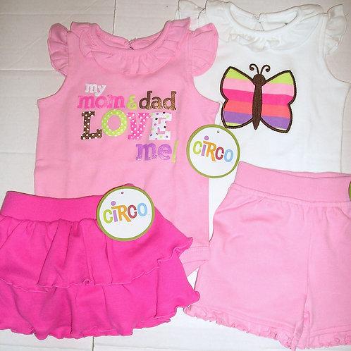 Circo 4 pc set pink/white size N