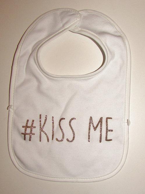 Modern Baby bib  Kiss Me