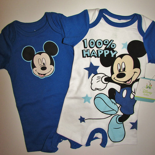 Disney blue/white Mickey 0-3 mo