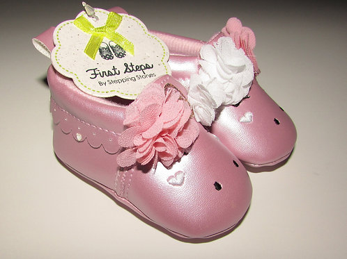 First Steps vinyl shoes pink size1