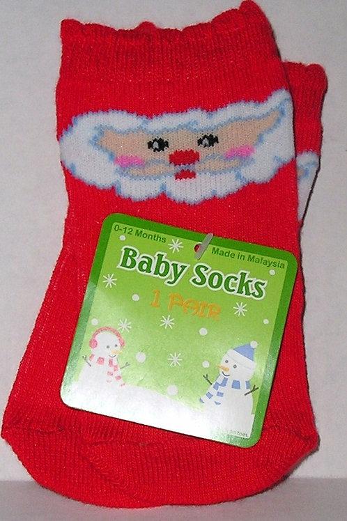 Baby socks Santa size 0-12 mo