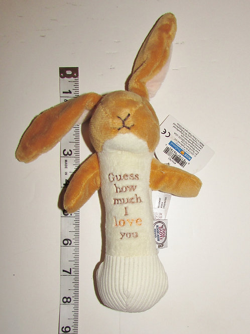 Kids Preferred plush rattle Bunny I Love You motif 7 inches
