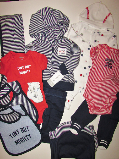 Carters red/blue/stripe size N
