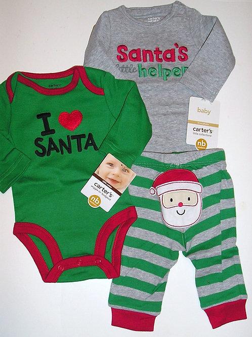 Carters 3 pc set/Santa choose style N