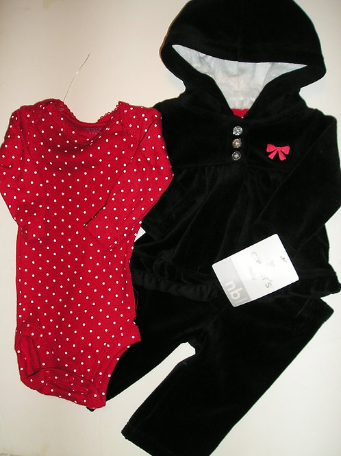 Carters black/red size N