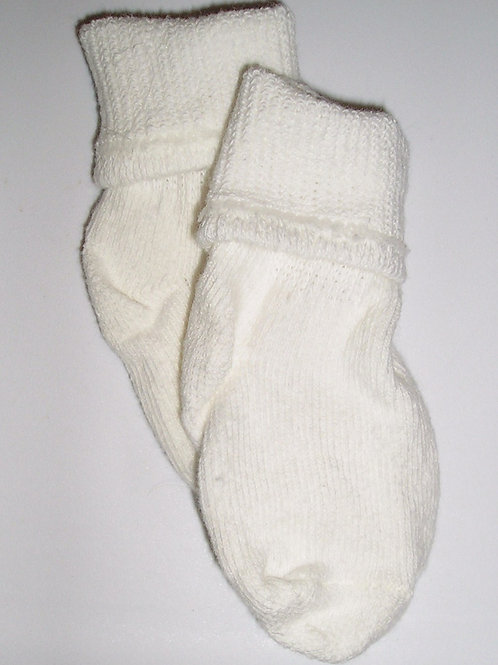 George cuffed socks white size 0-3 mo