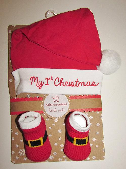 Baby Basics 2 pc set Santa motif size 0-6 mos
