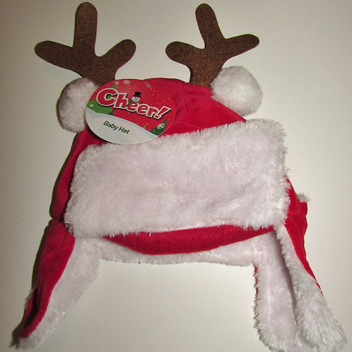 Cheer Holiday velour hat red/white 0-3 mo