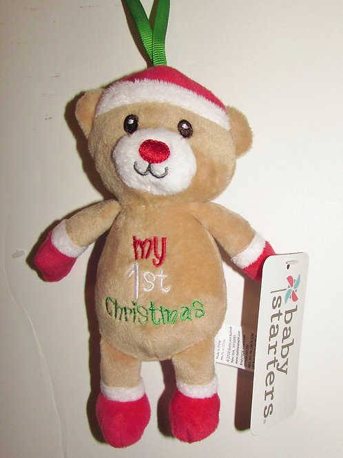 Baby Starters plush 1st Xmas bear 8 inches
