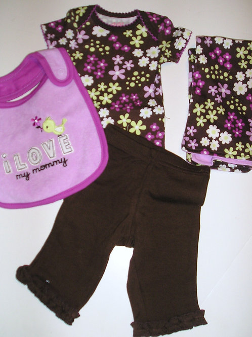 Child of Mine 4 pc brown/floral size N