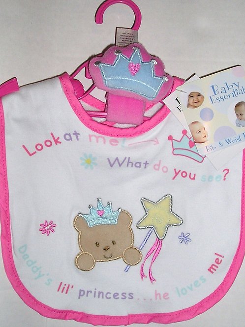 Baby Essentials bib set princess