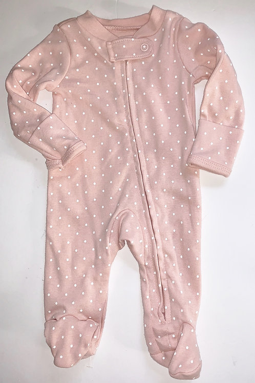 Carters sleeper pink.dots size P