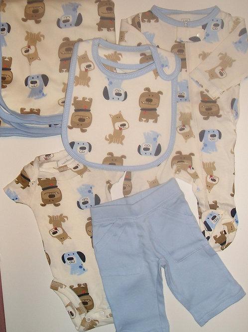 Carters cream/blue/dog size N