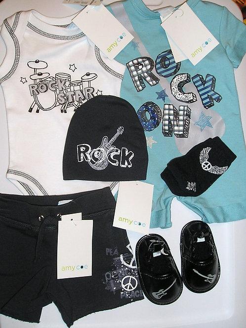 Amy Coe 6 pc set rock star size newborn