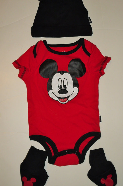 DIsney Mickey red size 0-3 mos