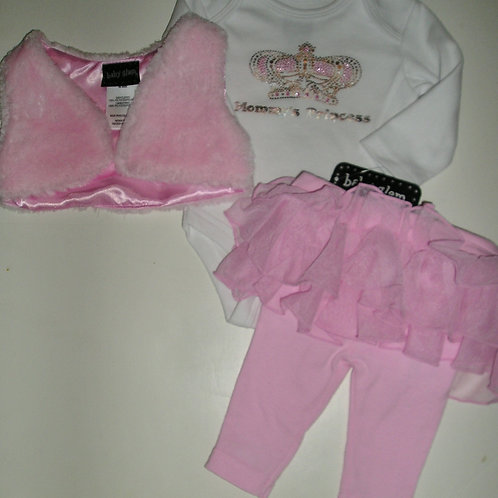 Baby Glam white/pink size N