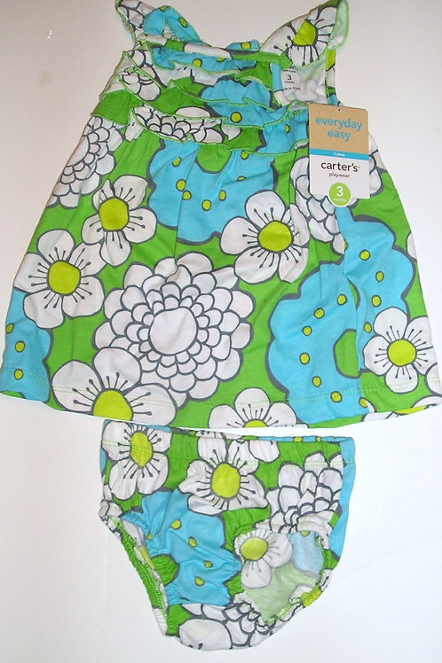 Carters dress floral size 3 mo