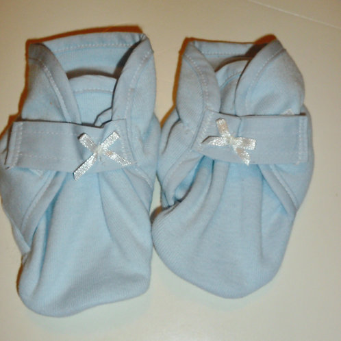Dharma booties blue size 0-3 mo