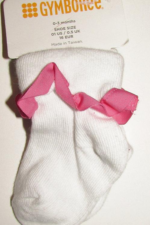 Gymboree white/pink size 1