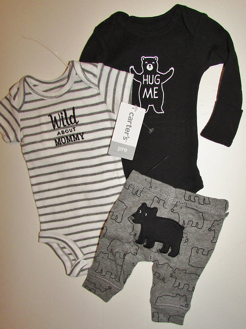 Carters Bear 3 pc set size P
