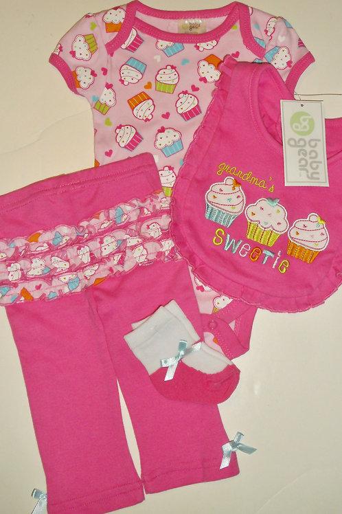 Baby Gear pink/cupcake size 0-3 mo
