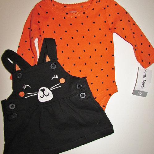 Carters orange/black cat size N