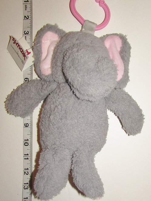 Kelly Baby push elephant gray/rattles 10 inches