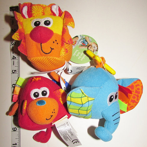 Infantino 3 pc activity block set animals 4 inches