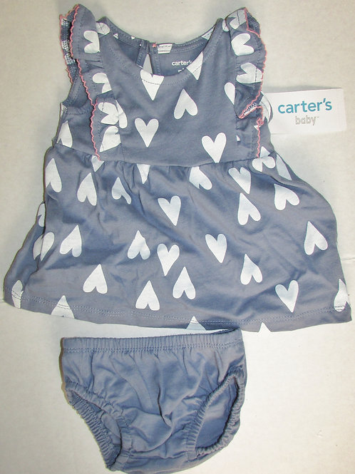 Carters dress set blue/hearts size N