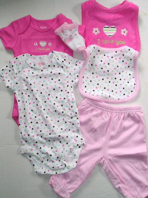 Child of Mine 6 pc dots size N-3 mos