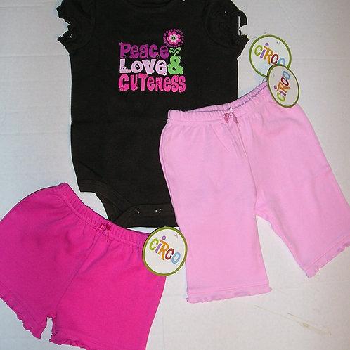 Circo 3 pc set pink/brown size N