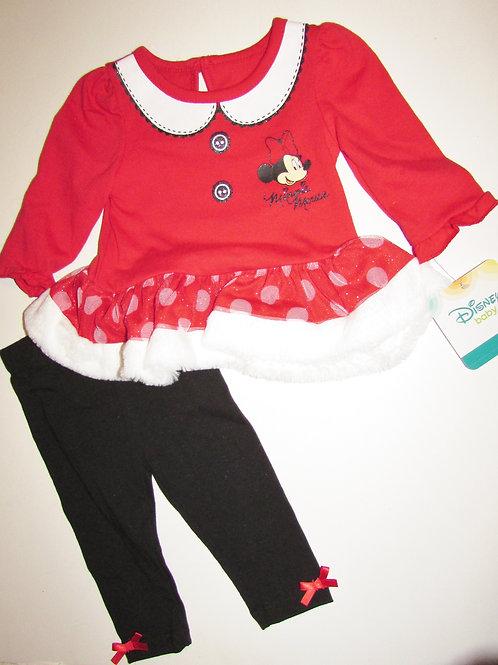 Disney red/white Minnie size 3-6 mos
