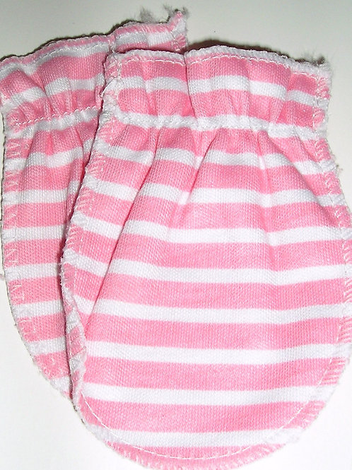 Gerber mitts pink/white size LN