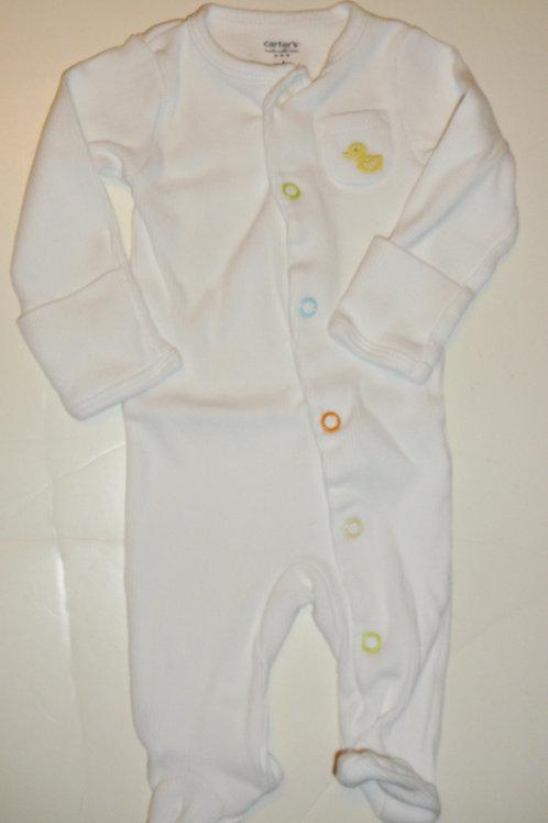 Carters coverall white/duck Newborn