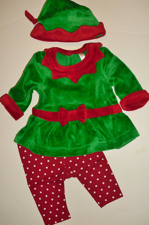 Cherokee 3 pc set green/red size 3 mo