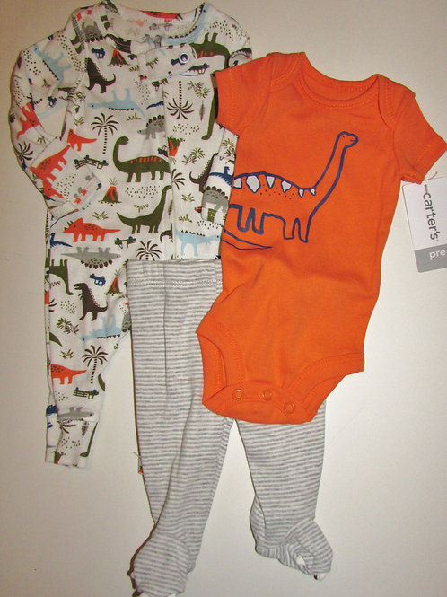 Carters 3 pc Dino set choose style size P